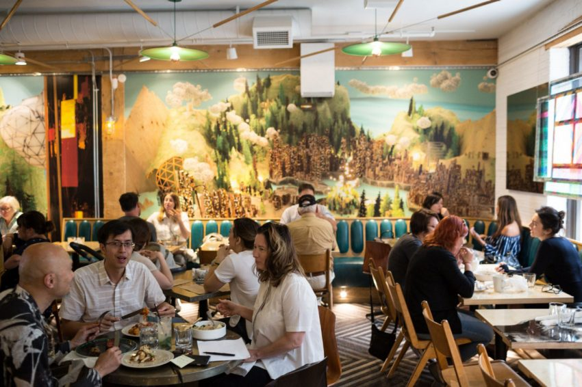This 8,000-square-foot emporium offers a tasty array of food options, and visitors have their choice of a full sit-down restaurant and two lounge areas. (NICK KOZAK)