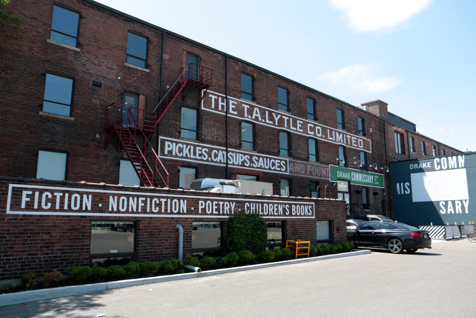 Appropriately enough, the new Drake lives in part of the old T.A. Lytle condiment factory.