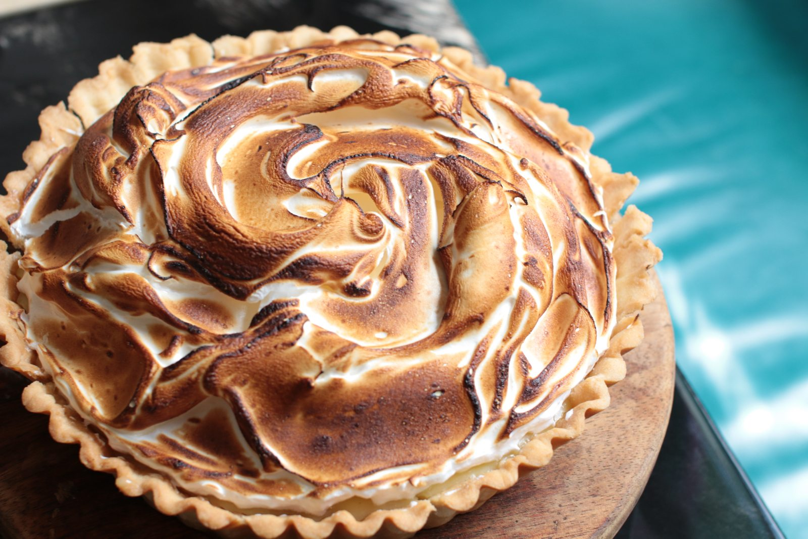 Pies, like this lemon meringue one, are available whole or by the slice.