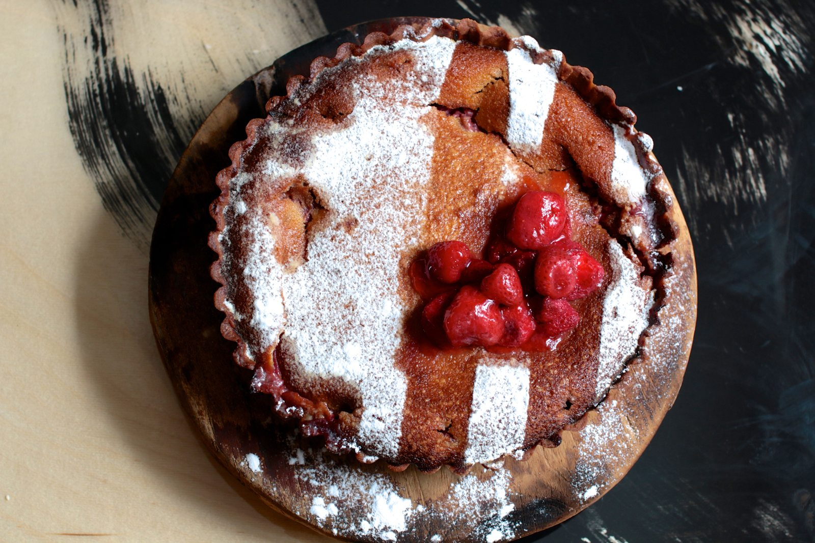 The same goes for this rhubarb and strawberry frangipane.